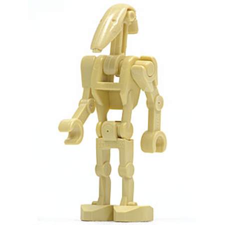 Lego Star Wars Battle Droid Tan Without Back Plate Minifigure