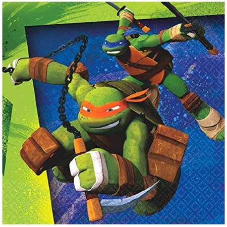 Napkins - Ninja Turtles - Small - Paper - 2Ply - 16ct - 10 X 10 in](Ninja Turtle Napkins)