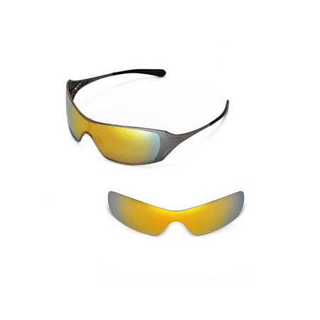 40be1f4f87efa Walleva - Walleva 24K Gold Polarized Replacement Lenses for Oakley Dart  Sunglasses - Walmart.com