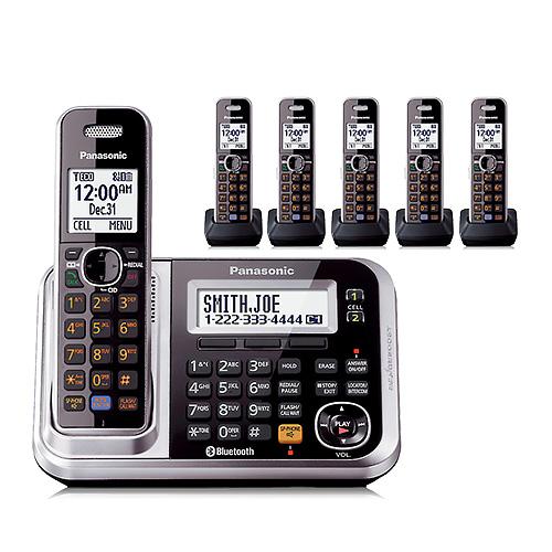 Panasonic KX-TG7876S DECT 6.0 Plus 1.9GHz 6 Handset Expandable Cordless Phone by Panasonic