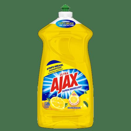 (2 Pack) Ajax Ultra Triple Action Liquid Dish Soap, Lemon - 52 fluid ounce