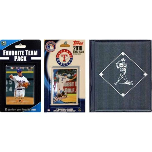 MLB Texas Rangers Licensed 2010 Topps�� Team Set and Favorite Player Trading Cards Plus Storage Album