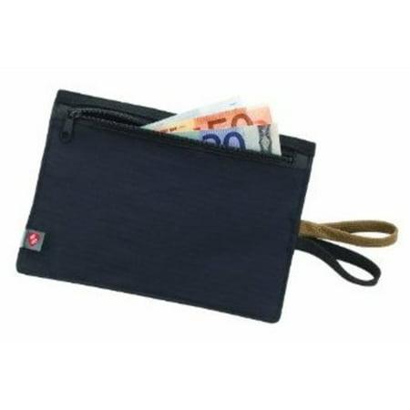 8959172b91f6 RFID-Blocking Hidden Travel Wallet, Black