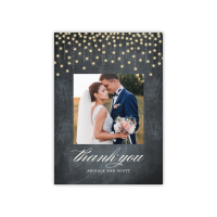 Personalized Wedding Thank You - Glowing Strands - 5 x 7 Flat