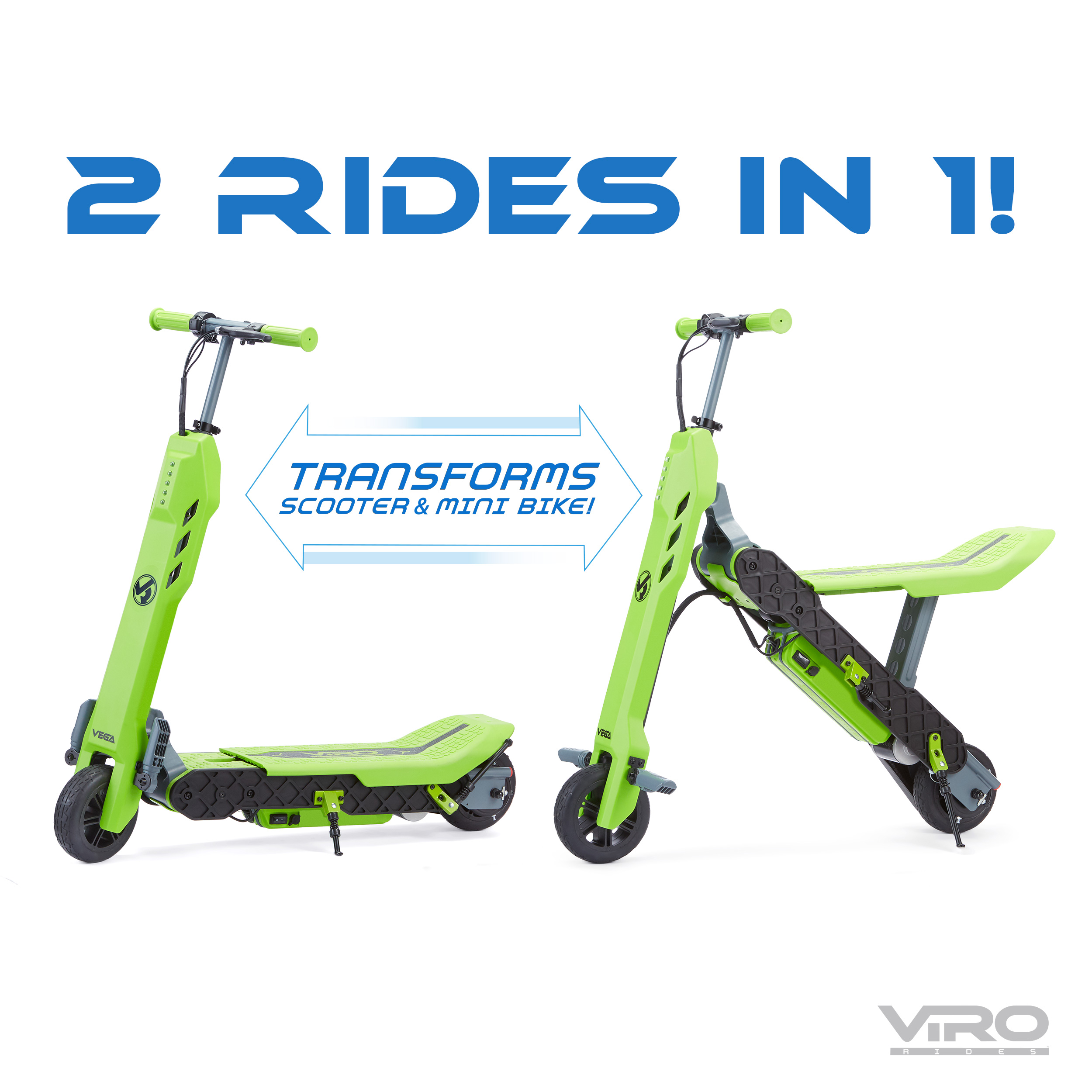 VIRO Rides Vega Transforming 2-in-1 Electric Scooter and Mini Bike