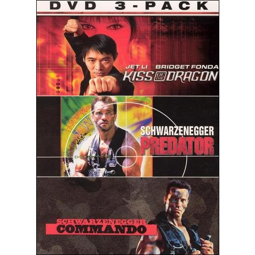 Attack 3-Pack: Kiss Of The Dragon (Widescreen/ Special Edition) / Predator / Commando
