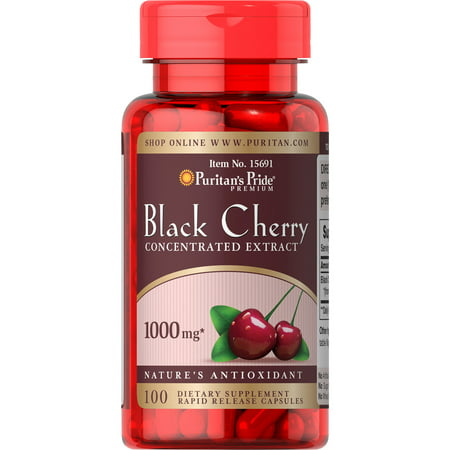 Puritan's Pride Black Cherry 1000 mg-100 Capsules