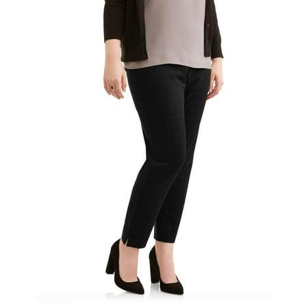 Silk Ankle Length Pants (Lifestyle Attitudes Women's Plus Ankle Length Plaid Knit Career)