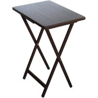 Product Image 4 Pack Mainstays Folding Tv Tray Table Set Walnut