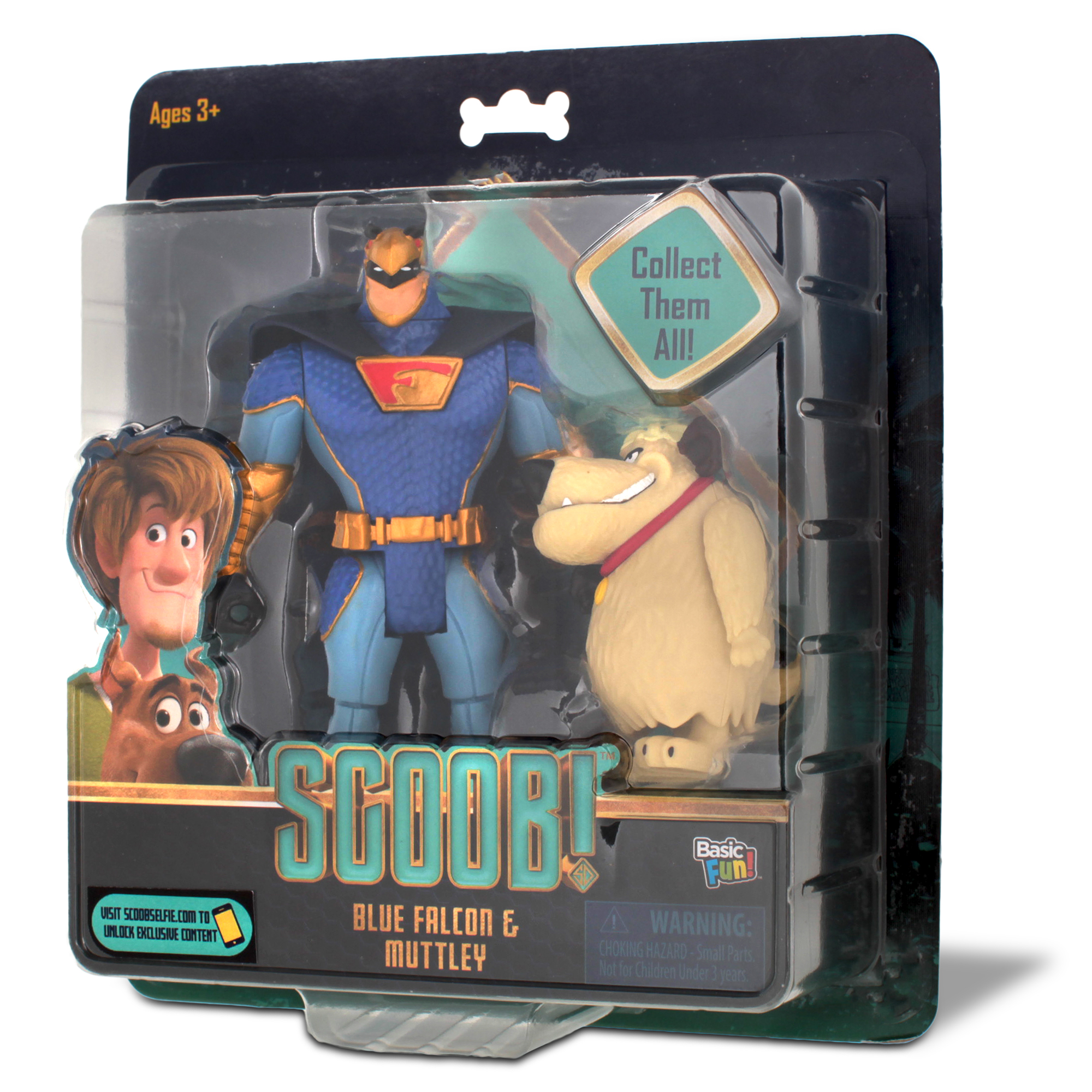 Scooby Doo SCOOB Action Figure Multi Pack con Shaggy e Blu Falcon