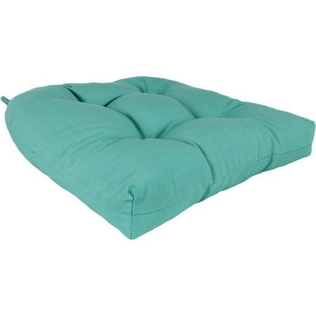 Lakeside Teal Canvas Indoor / Outdoor Seat Cushion Patio D Cushion ()