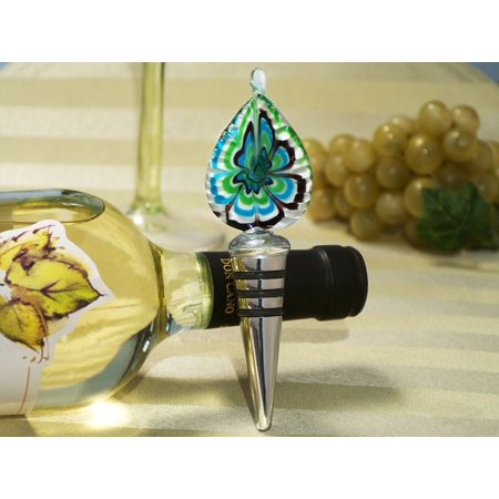Murano art deco collection tear drop design wine stopper