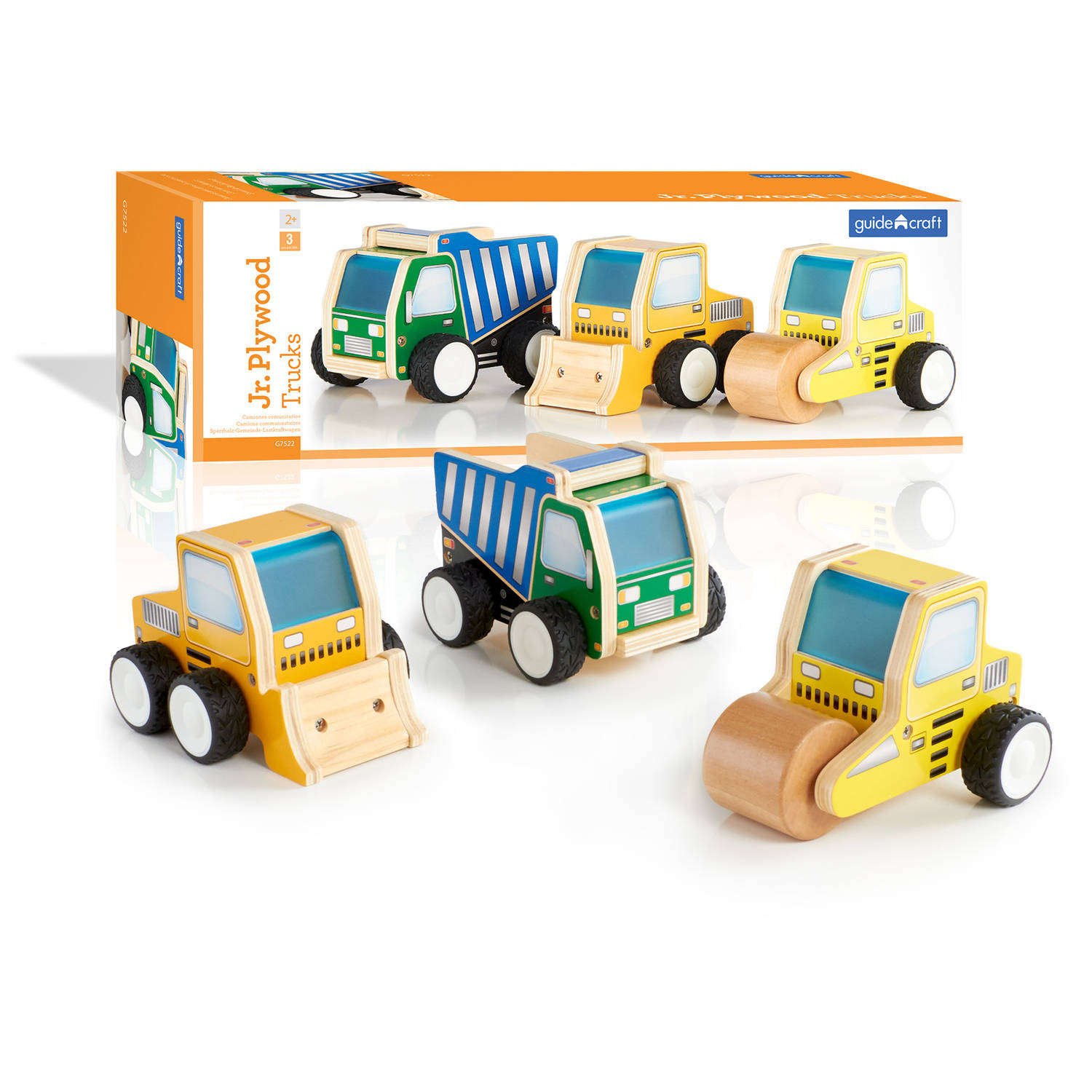 Guidecraft Jr. Plywood Construction Trucks