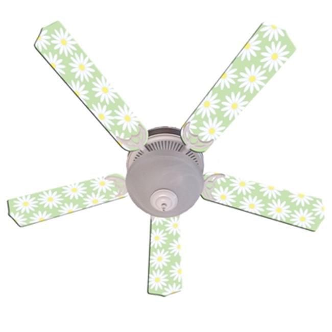 Ceiling Fan Designers 52FAN-IMA-LDG Lazy Daises Flowers Green Yellow Ceiling Fan 52 In. by Ceiling Fan Designers