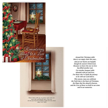 The Empty Chair Christmas Card Set of 20 Choir Christmas Card