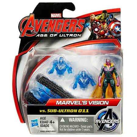 Avengers Age of Ultron Marvel's Vision vs Sub Ultron 011 Action Figure 2-Pack - Walmart.com