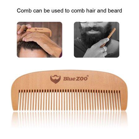 Yosoo Portable Mens Beard Wooden Comb Kit Mustache Hair Care Brush Shape Toolsmens Beard Comb Mustache Wodden Comb Walmartcom