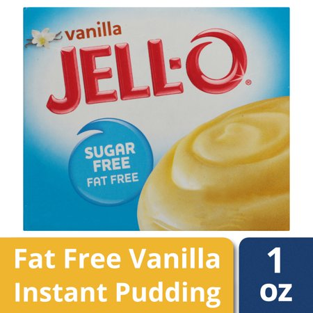 (4 Pack) Jell-O Instant Sugar-Free Fat-Free Vanilla Pudding & Pie Filling, 1 oz Box ()