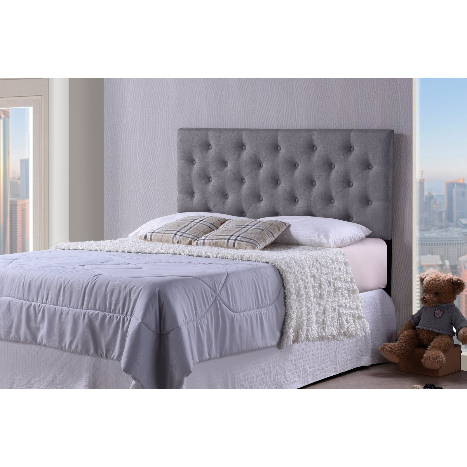 Baxton Studio Viviana Modern And Contemporary Fabric Upholstered