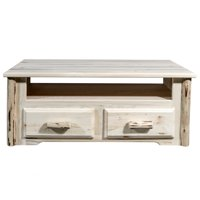 Montana Collection Two Drawer Sitting Chest/Entertainment Center, Ready to Finish