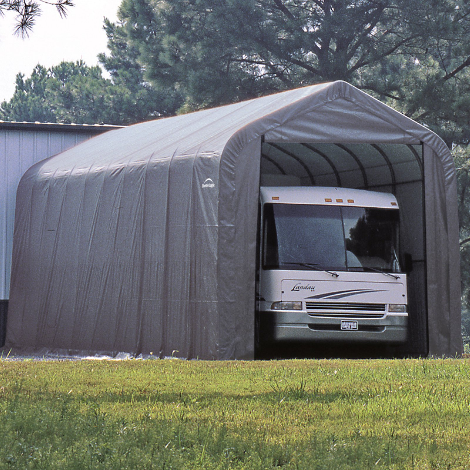 ShelterLogic 15' x 24' x 12' Peak Style Shelter, Green