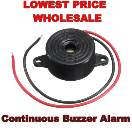 1/ 2/ 4 Pcs 3-24V 95DB Piezo Electronic Tone Buzzer Alarm with Mounting Holes Black (Buzzer Electronics)