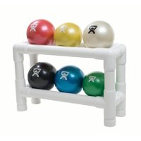 CanDo Wate Ball, Hand Held Size, 6-piece Set, 1 each Tan through Black with 2-Tier Rack