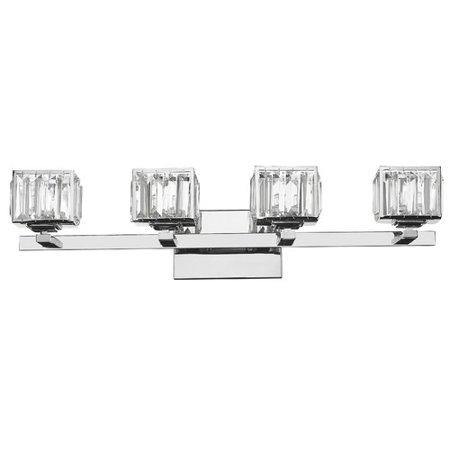 Contemporary Fixture (CHLOE Lighting TRILLUMINATE Contemporary 4 Light Chrome Finish Crystal Globe Bath Vanity Wall Fixture 29