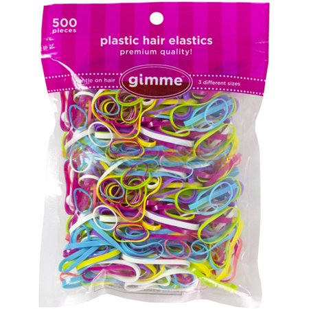Gimme Plastic Hair Elastics 338e093748b