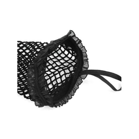Elbow Length Elastic Fishnet Chiffon Trimming Fingerless Arm Gloves Black Pair - image 2 of 4
