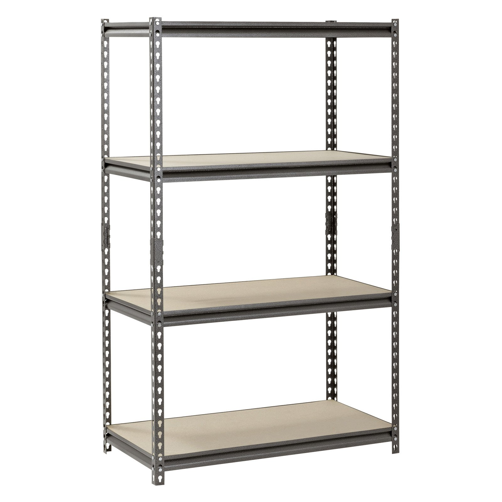 "Muscle Rack 4-Shelf Steel Shelving, Silver-Vein, 18"" D x 36"" W x 60"" H"