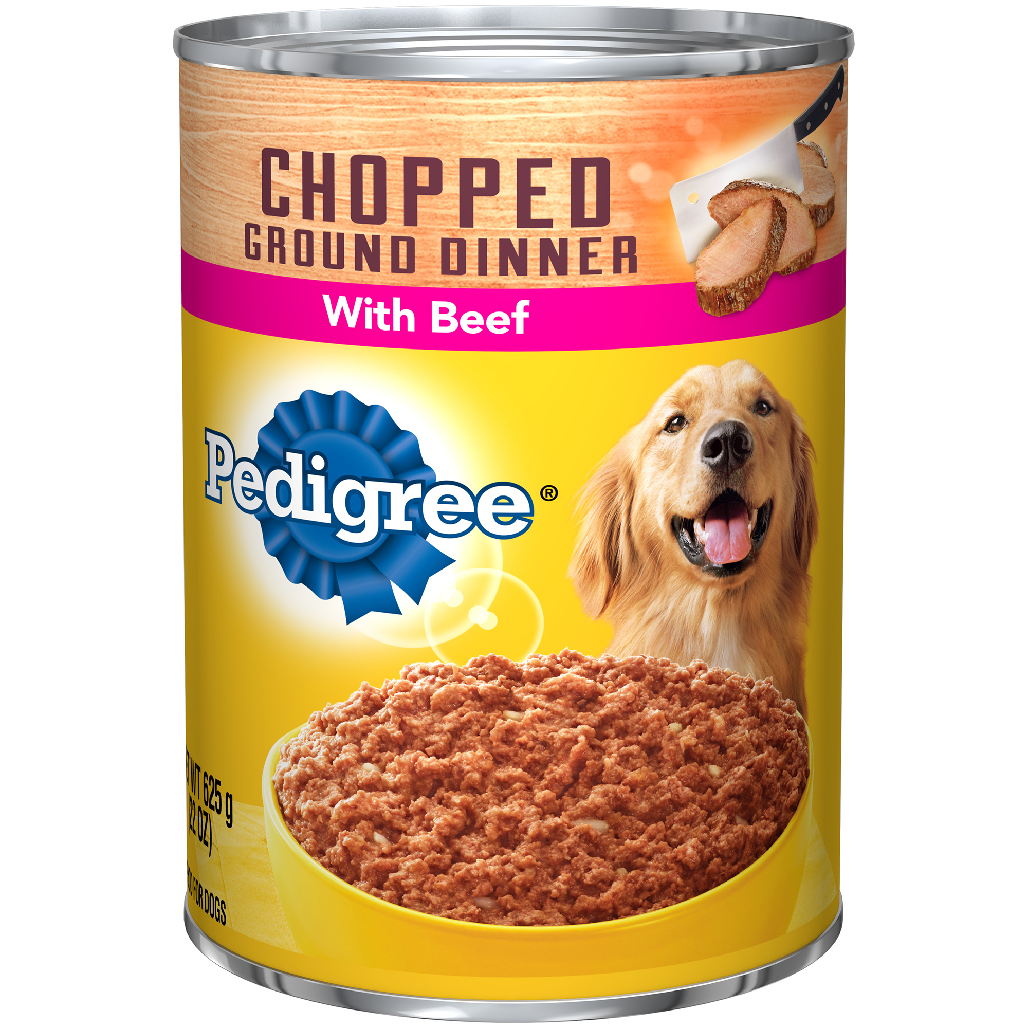 PEDIGREE Chopped Ground Dinner With Beef Canned Dog Food 22 Ounces