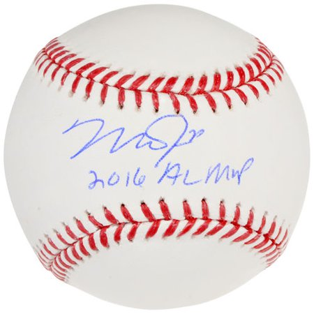 Mike Trout Los Angeles Angels Autographed Baseball with 2016 AL MVP Inscription
