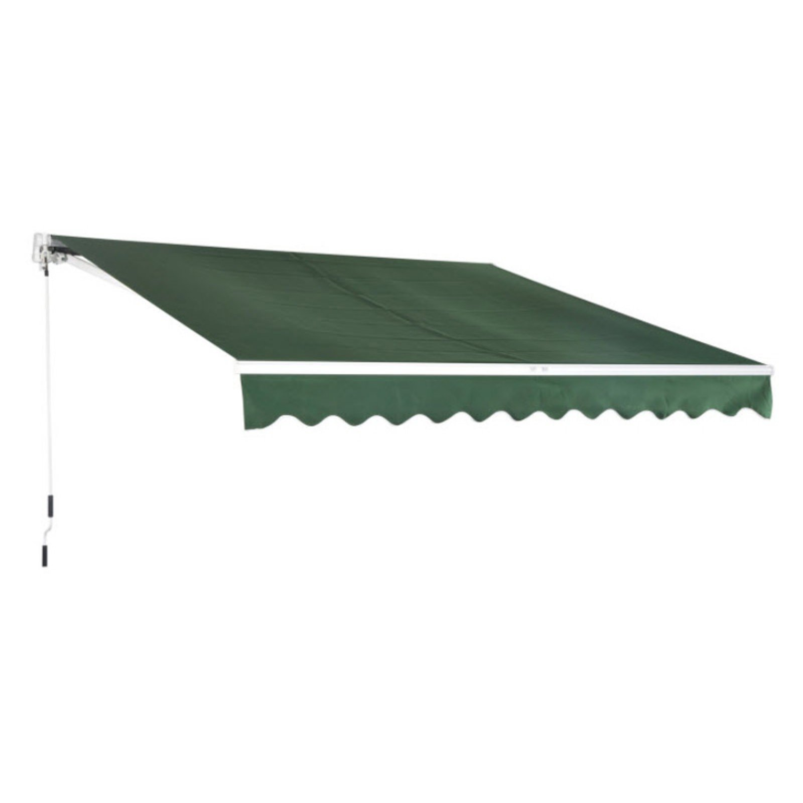 Ktaxon 12u0027 X 10u0027 Manual Retractable Awning Beige Outdoor Shelter Sunshade  Rainshade Window Awning/Door Awning   Walmart.com