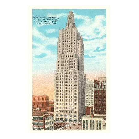 Power and Light Building, Kansas City, Missouri Print Wall Art - Party City Kansas City Missouri