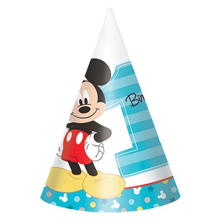 Mickey's Fun To Be One paper Cone Hats (8 (Fun Cone Hat)