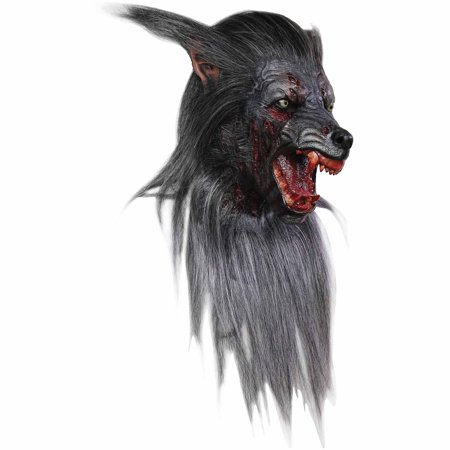 Black Wolf Adult Mask Halloween Costume Accessory](Hungry Wolf Mask)