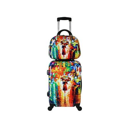 World Traveler 2-Piece Carry-On Hardside Spinner Luggage Set - Paris