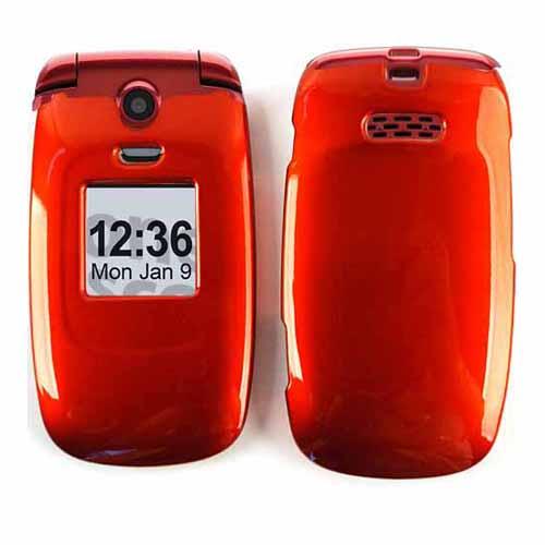 Unlimited Cellular Snap-On Case for Samsung Jitterbug Plus R220 (Honey Burn Orange)