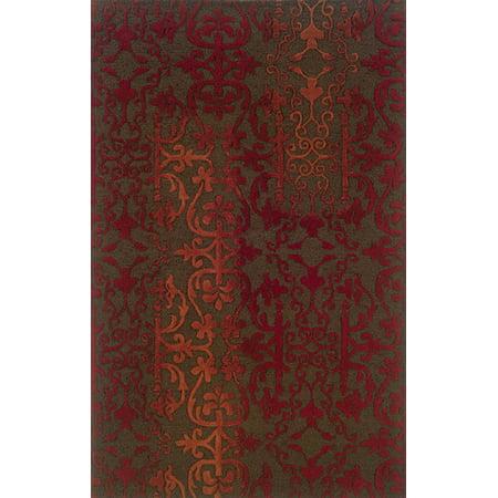 Sphinx Ventura Area Rugs - 18101 Transitional Casual Brown Vines Scrolls Damask Rug
