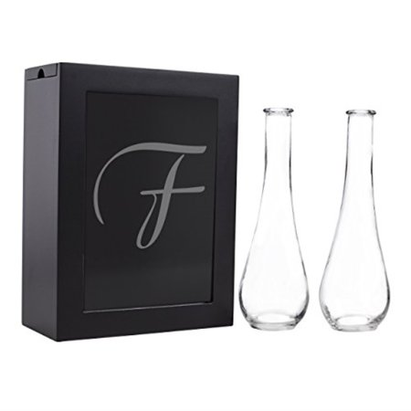 cathy's concepts sand ceremony shadow box set, letter f, black a top trending alternative for the traditional unity candle, the unity sand ceremony shadow box set comes complete with two pouring vases, an easy to open shadow box and personalized glass insert. sand not included.SKU:ADIB00KL7D126