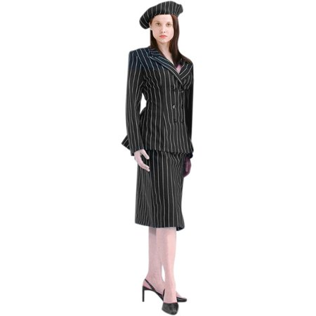 Women's Deluxe Bonnie and Clyde Costume~Large / Black - Bonnie Clyde Costumes