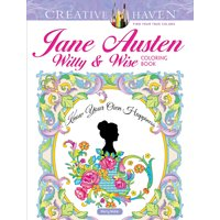 Creative Haven Coloring Books: Creative Haven Jane Austen Witty & Wise Coloring Book (Paperback)