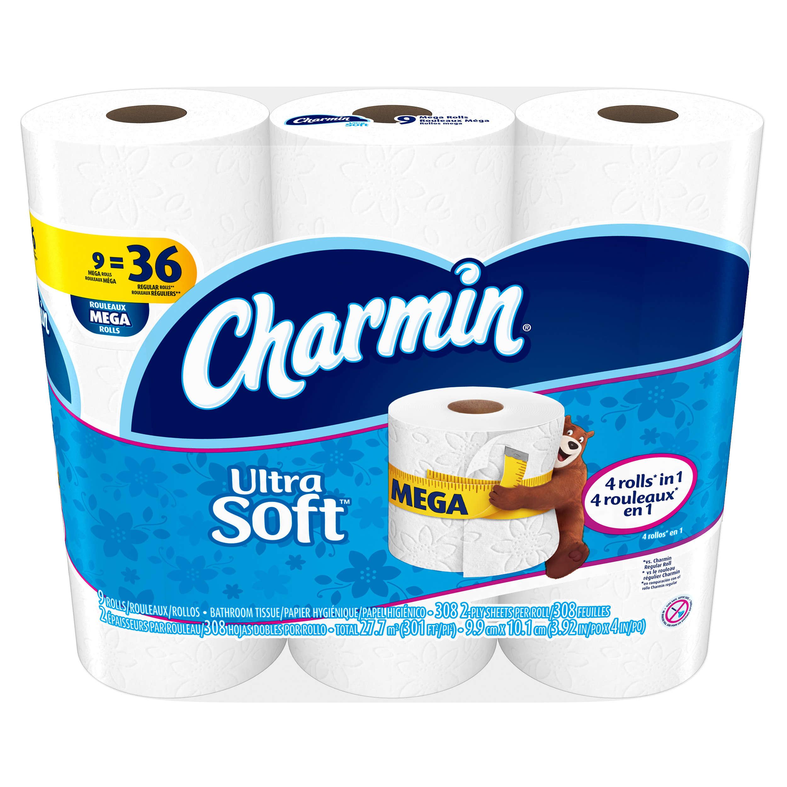 Charmin Ultra Soft Blue 9 Mega