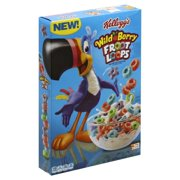 Kellogg's Froot Loops Wild Berry with Stars Sweetened Multi-Grain Cereal 10 oz. Box
