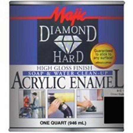 Majic Paints 8-1501-2 1 Quart Gloss Black Diamondhard Acrylic Enamel