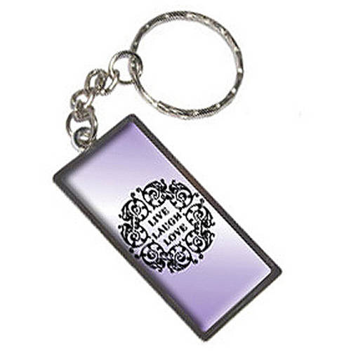 Live Laugh Love Purple Keychain Key Chain Ring