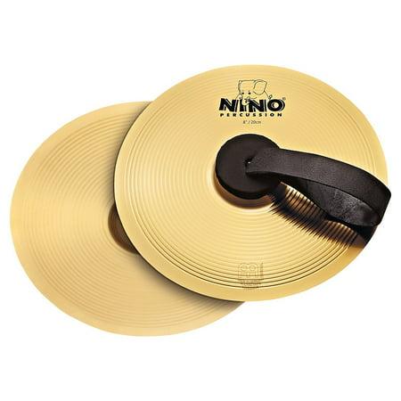 Nino Cymbal Pair Brass 8 in. -