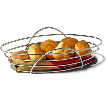 Spectrum St  Louis Oval Bread Basket  Chrome