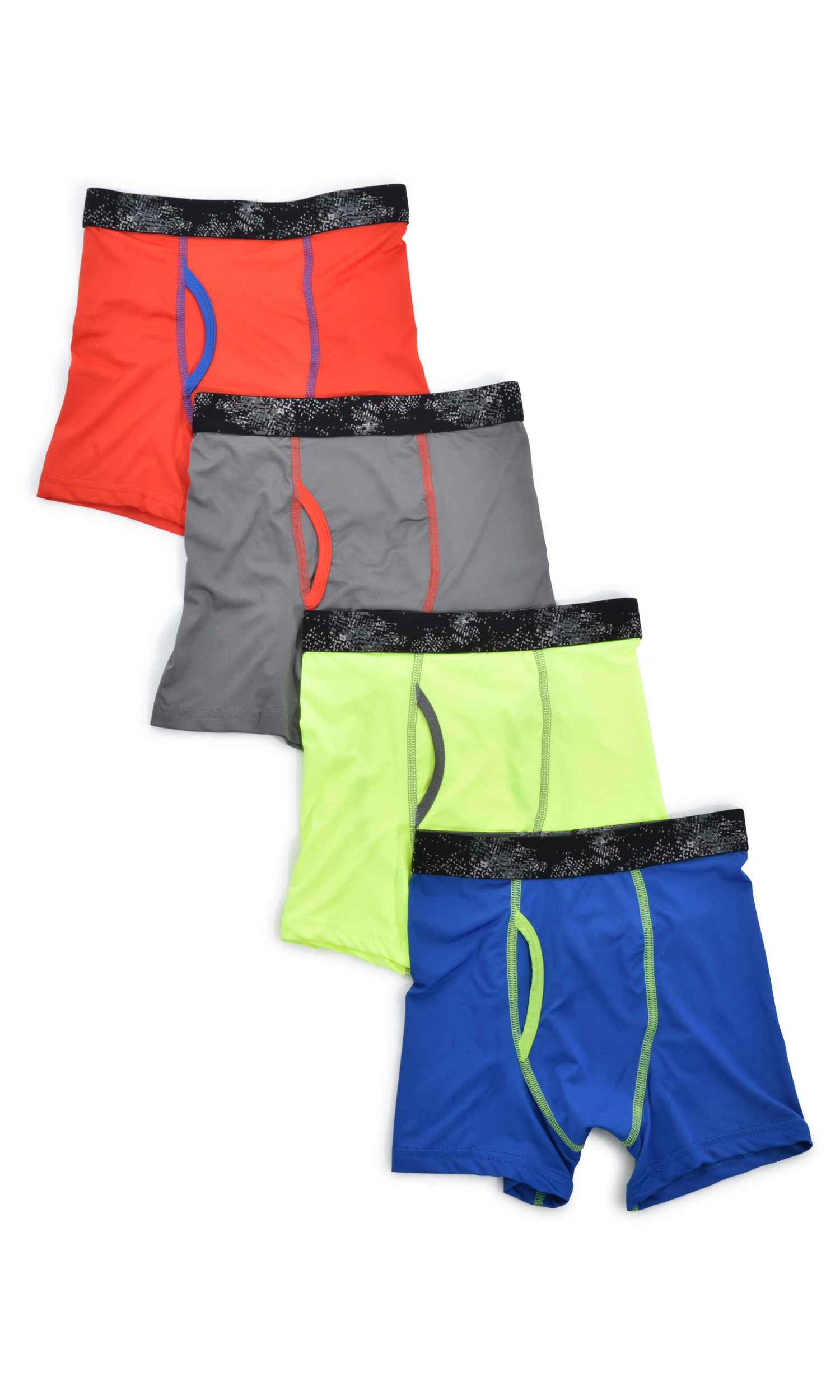 Athletic Works Solid Boxer Brief, 4 Pack